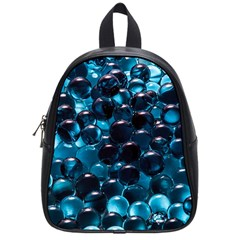 Blue Abstract Balls Spheres School Bags (small)