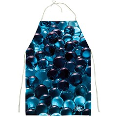 Blue Abstract Balls Spheres Full Print Aprons