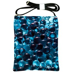 Blue Abstract Balls Spheres Shoulder Sling Bags
