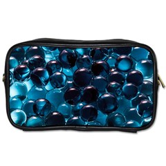 Blue Abstract Balls Spheres Toiletries Bags 2 Side