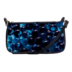 Blue Abstract Balls Spheres Shoulder Clutch Bags