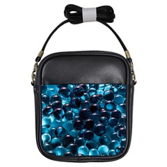 Blue Abstract Balls Spheres Girls Sling Bags