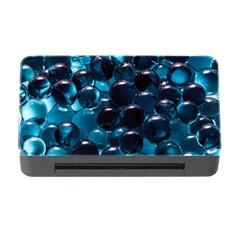 Blue Abstract Balls Spheres Memory Card Reader With Cf