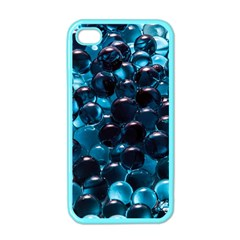 Blue Abstract Balls Spheres Apple Iphone 4 Case (color)