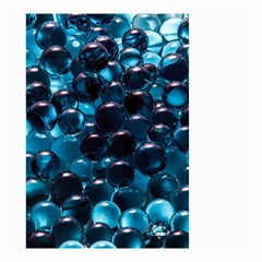 Blue Abstract Balls Spheres Small Garden Flag (two Sides)