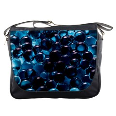 Blue Abstract Balls Spheres Messenger Bags
