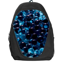 Blue Abstract Balls Spheres Backpack Bag