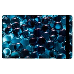 Blue Abstract Balls Spheres Apple Ipad 3/4 Flip Case