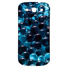 Blue Abstract Balls Spheres Samsung Galaxy S3 S Iii Classic Hardshell Back Case