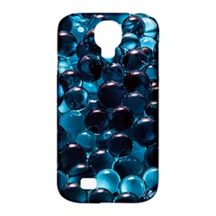 Blue Abstract Balls Spheres Samsung Galaxy S4 Classic Hardshell Case (pc+silicone)