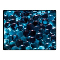Blue Abstract Balls Spheres Double Sided Fleece Blanket (small)