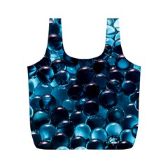 Blue Abstract Balls Spheres Full Print Recycle Bags (m)