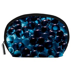 Blue Abstract Balls Spheres Accessory Pouches (large)