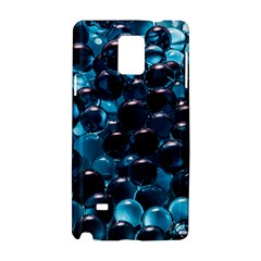 Blue Abstract Balls Spheres Samsung Galaxy Note 4 Hardshell Case