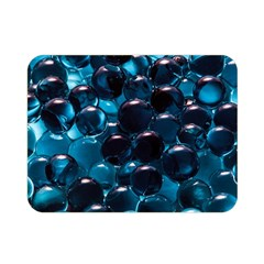 Blue Abstract Balls Spheres Double Sided Flano Blanket (mini)