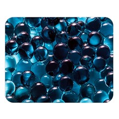 Blue Abstract Balls Spheres Double Sided Flano Blanket (large)