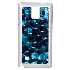 Blue Abstract Balls Spheres Samsung Galaxy Note 4 Case (white)