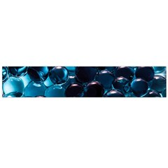 Blue Abstract Balls Spheres Flano Scarf (large)