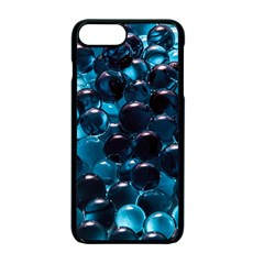 Blue Abstract Balls Spheres Apple Iphone 7 Plus Seamless Case (black)