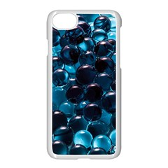 Blue Abstract Balls Spheres Apple Iphone 7 Seamless Case (white)