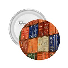Blue White Orange And Brown Container Van 2 25  Buttons