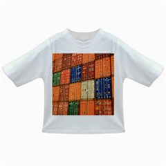 Blue White Orange And Brown Container Van Infant/Toddler T-Shirts
