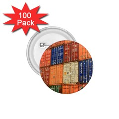 Blue White Orange And Brown Container Van 1 75  Buttons (100 Pack)