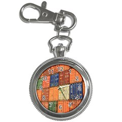 Blue White Orange And Brown Container Van Key Chain Watches