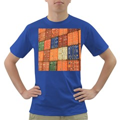 Blue White Orange And Brown Container Van Dark T Shirt
