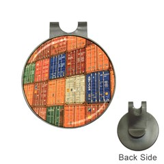 Blue White Orange And Brown Container Van Hat Clips With Golf Markers