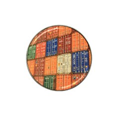 Blue White Orange And Brown Container Van Hat Clip Ball Marker