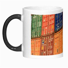 Blue White Orange And Brown Container Van Morph Mugs