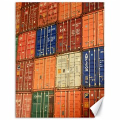Blue White Orange And Brown Container Van Canvas 18  X 24
