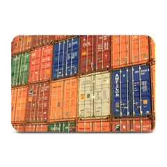 Blue White Orange And Brown Container Van Plate Mats