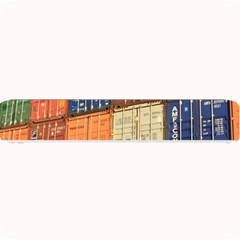 Blue White Orange And Brown Container Van Small Bar Mats