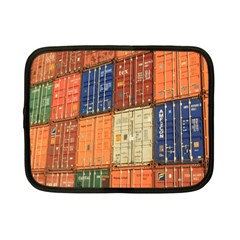 Blue White Orange And Brown Container Van Netbook Case (small)