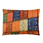 Blue White Orange And Brown Container Van Pillow Case 26.62 x18.9 Pillow Case