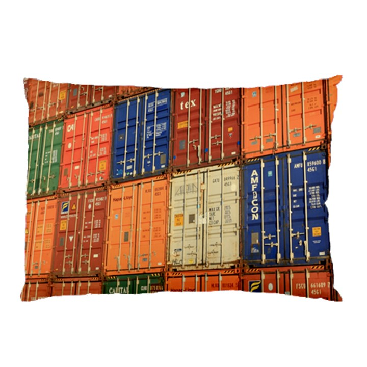 Blue White Orange And Brown Container Van Pillow Case