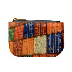 Blue White Orange And Brown Container Van Mini Coin Purses