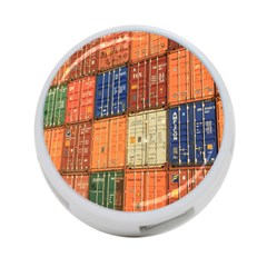 Blue White Orange And Brown Container Van 4-Port USB Hub (One Side)