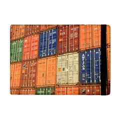 Blue White Orange And Brown Container Van Apple iPad Mini Flip Case