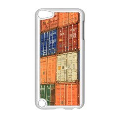 Blue White Orange And Brown Container Van Apple Ipod Touch 5 Case (white)