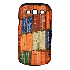 Blue White Orange And Brown Container Van Samsung Galaxy S Iii Classic Hardshell Case (pc+silicone)