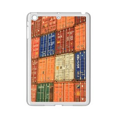 Blue White Orange And Brown Container Van Ipad Mini 2 Enamel Coated Cases