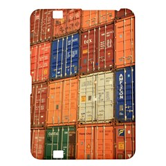 Blue White Orange And Brown Container Van Kindle Fire Hd 8 9
