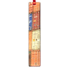 Blue White Orange And Brown Container Van Large Book Marks