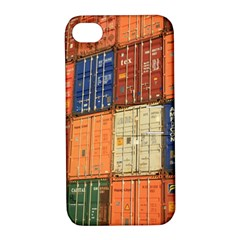 Blue White Orange And Brown Container Van Apple Iphone 4/4s Hardshell Case With Stand
