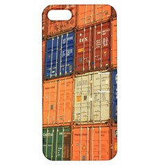 Blue White Orange And Brown Container Van Apple Iphone 5 Hardshell Case With Stand