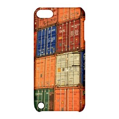 Blue White Orange And Brown Container Van Apple Ipod Touch 5 Hardshell Case With Stand
