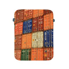 Blue White Orange And Brown Container Van Apple iPad 2/3/4 Protective Soft Cases
